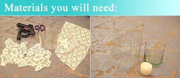 Easy as 1-2-3: Make Your Own Lace Candle Holders!