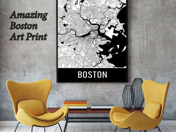 Boston Map Art Print, Boston MA Art Poster, Boston Wall Art, Map Of Boston,  Boston Print, Boston Gift, Birthday, Decor, Modern, Art | Pinterest
