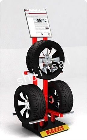 tire display | Elegant Tire Rack For 3 - Buy Tire Rack,Stacking Tire Rack,Metal Tire ...