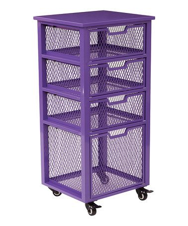 This Purple Four-Drawer Rolling Metal Cart is perfect! #zulilyfinds $114.99