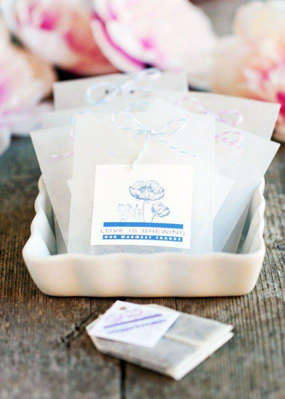 10 Wedding Favors Under 1 Super Cheap Wedding Favor Ideas Tea Wedding Favors Diy Wedding Favors Cheap Wedding Tea Bag Favors