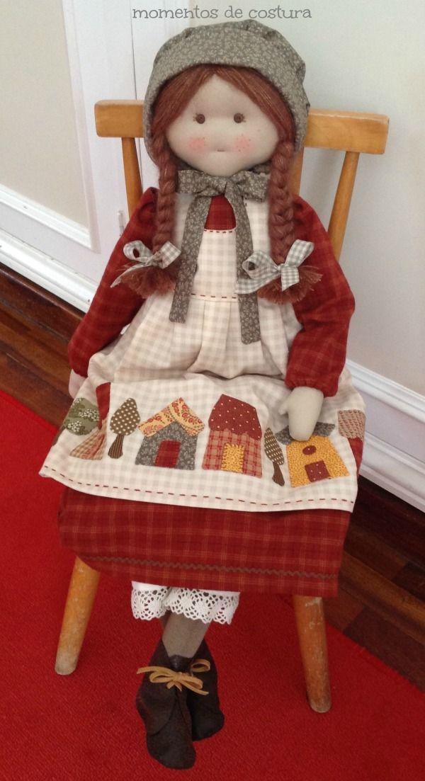 Momentos de Costura: Muñeca con aplicaciones