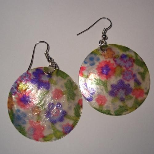 Orecchini Madreperla Fiori Shell  Shell earrings Spring line