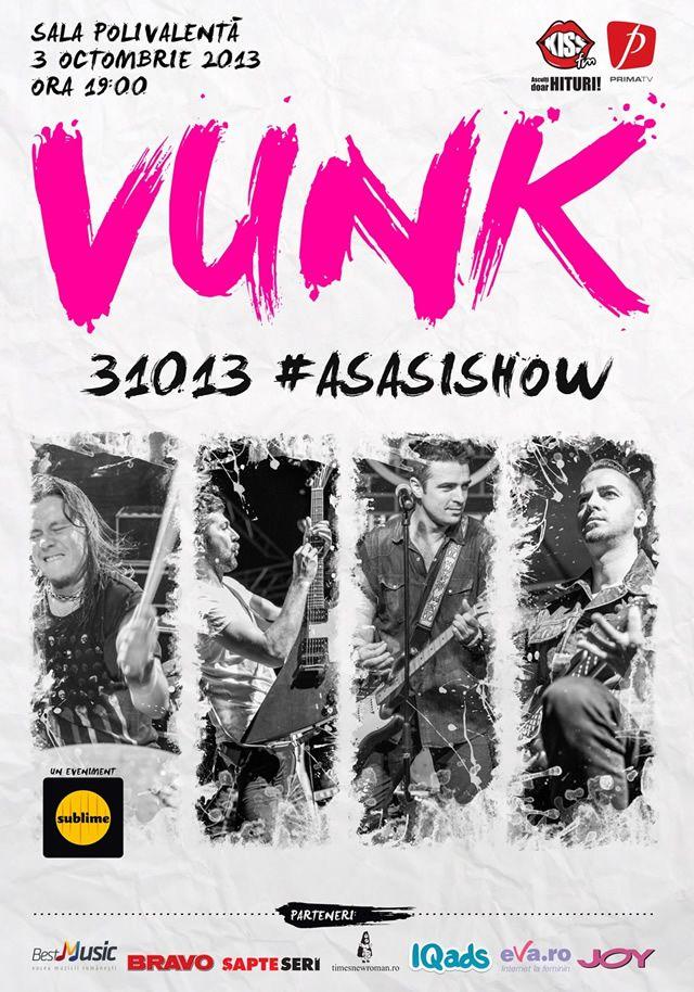 S-au pus in vanzare biletele pentru concertul VUNK din octombrie de la Sala Polivalenta!  http://www.emonden.co/s-au-pus-in-vanzare-biletele-pentru-concertul-vunk-din-octombrie