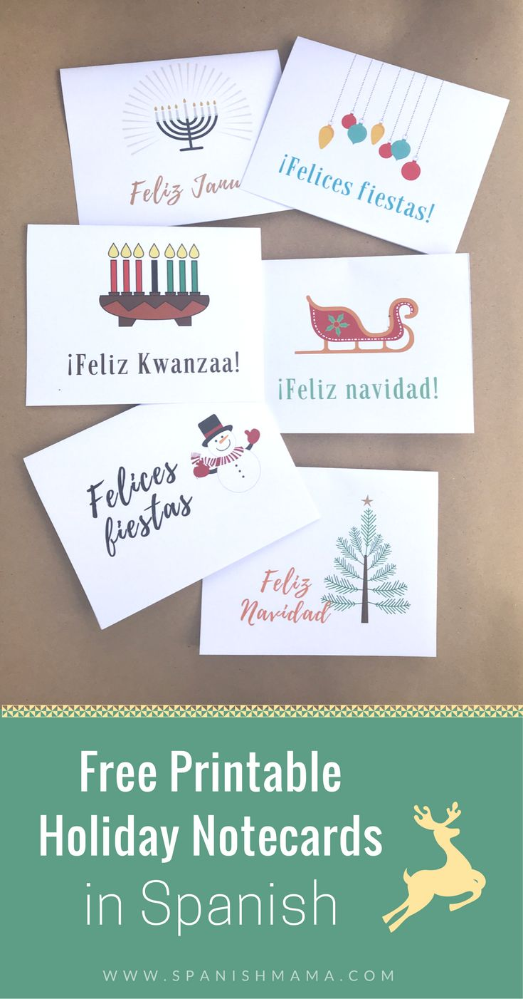 314 best best of spanish mama images on pinterest spanish free christmas cards in spanish with other holidays too kristyandbryce Images