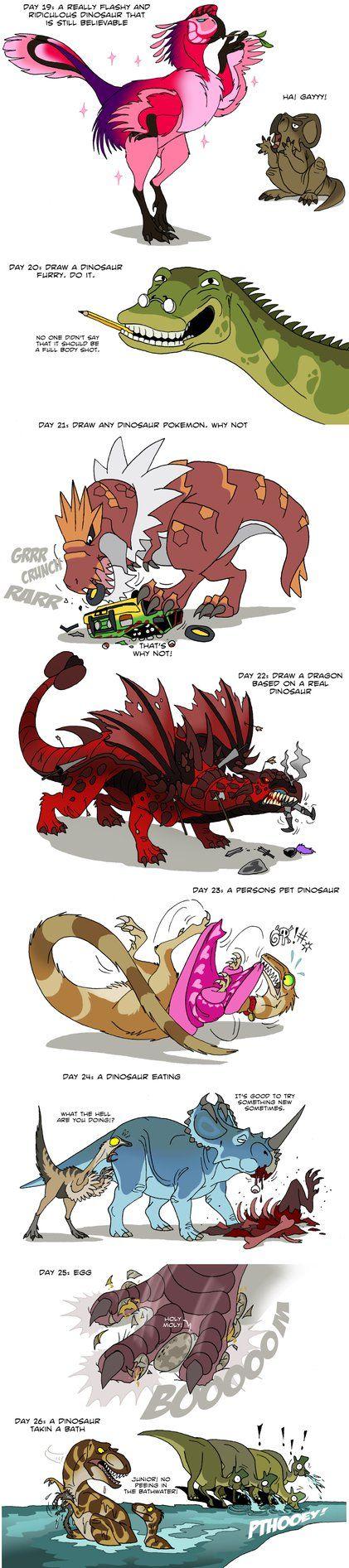 Dinosaur challenge 4 by IsisMasshiro on DeviantArt
