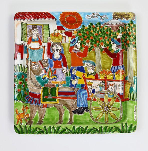 Ceramiche De Simone - Square Plates DS cm 37x37 Decoration03