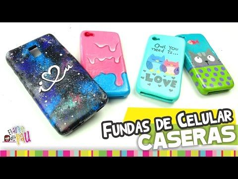 MEDIO✔ Fundas para Celular CASERAS / Homemade cellphone case - YouTube