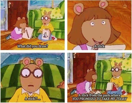 """She refused to let her rude, forgetful brother get away with breaking promises. 