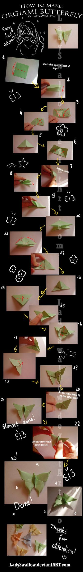 Cute Origami Butterflies!