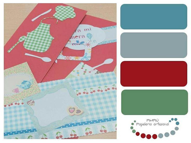 #gamadecolores de la #tarjeta más reciente de la nueva #colección Deseando enseñaros el resultado final #paletadecolores #palette #colores Para conocer otras colecciones entra en www.pimpiu.com