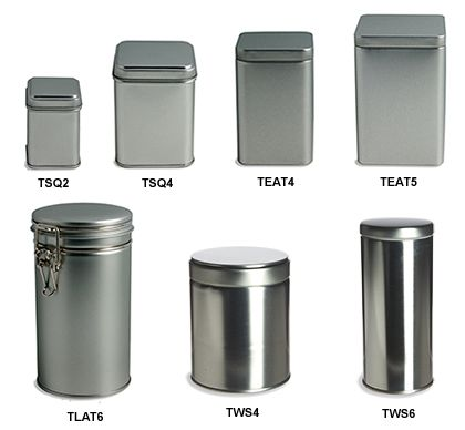 Amazing! cheap tins and mason jars-- would be great for gift wrapping!