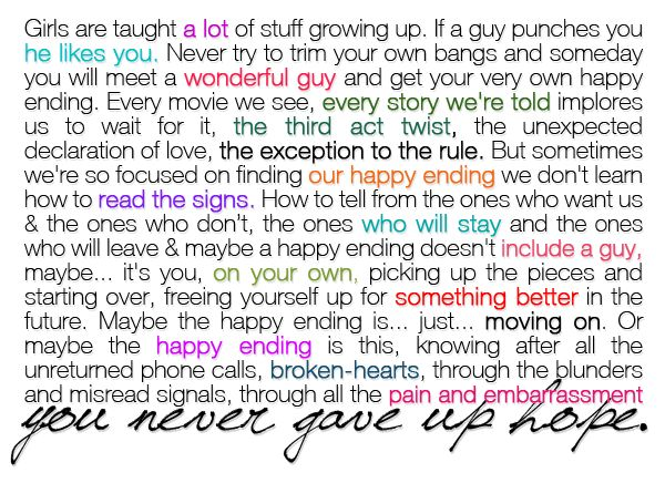 favorite quote...hes just not that into you
