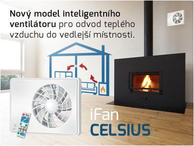 Zcela nový #inteligentní #ventilátor #iFan #CELSIUS pro #odvětrávání teplého vzduchu do vedlejší místnosti - http://www.ventilatory.cz/ventilator-do-koupelny-ifan-celsius-_ventilator_-1973.html