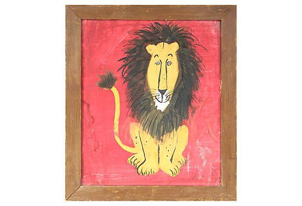 The Happy Lion Illustration on OneKingsLane.com