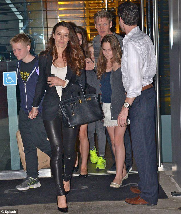 Tana Ramsay + Leather pants