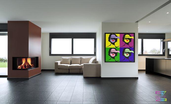 PopArt | Acryl pe panza (100cm x 100cm) #popart #moderninterior #vibrantcolors