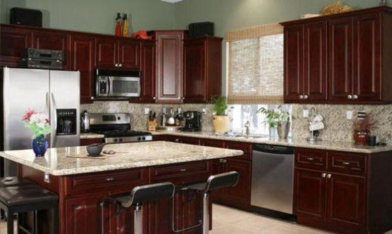 Kitchen best paint colors for kitchen with cherry for Kitchen color ideas with cherry cabinets