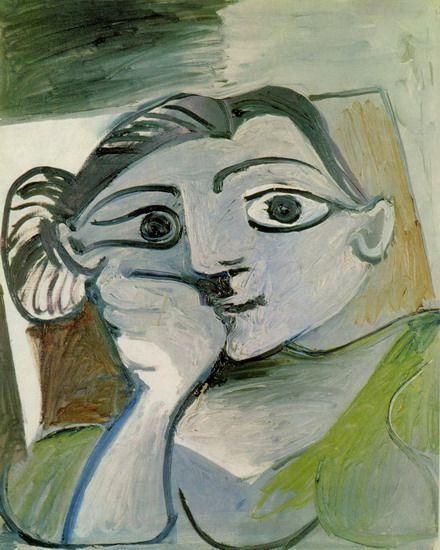 "Pablo Picasso - ""Bust of a Woman (Jacqueline)"", 1962"