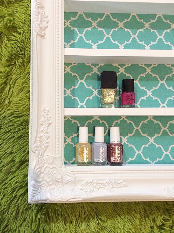 Baroque Aqua Nail Polish Display by DaintyCreations on Etsy, $92.00