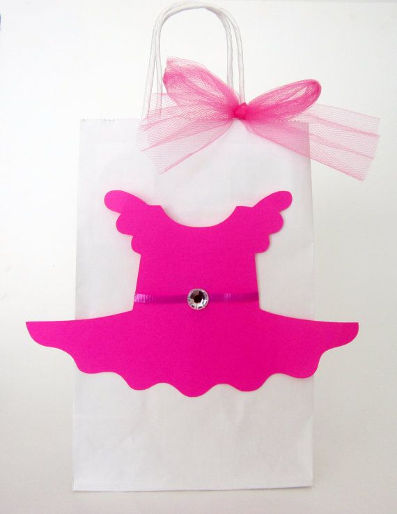 Ballerina TuTu Party Favor Goody Gift Bags  10 Favor by CraftyCue, $32.50