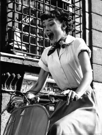 Audrey Hepburn in Roman Holiday, 1953.