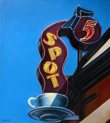 5 Spot (Seattle, Washington)Coffee Shops, Spots, Coffe Signs, Neon Signs, Vintage Signs, Coffee Signs, Neonsign, Wet Painting, Neon Signage