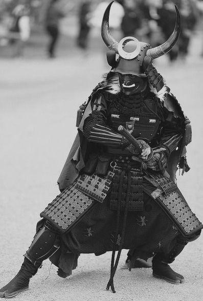 masked samurai pose