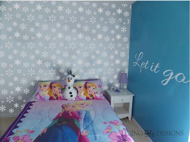 Plantilla decorativa frozen para el dise o de interiores y for Diseno de paredes interiores