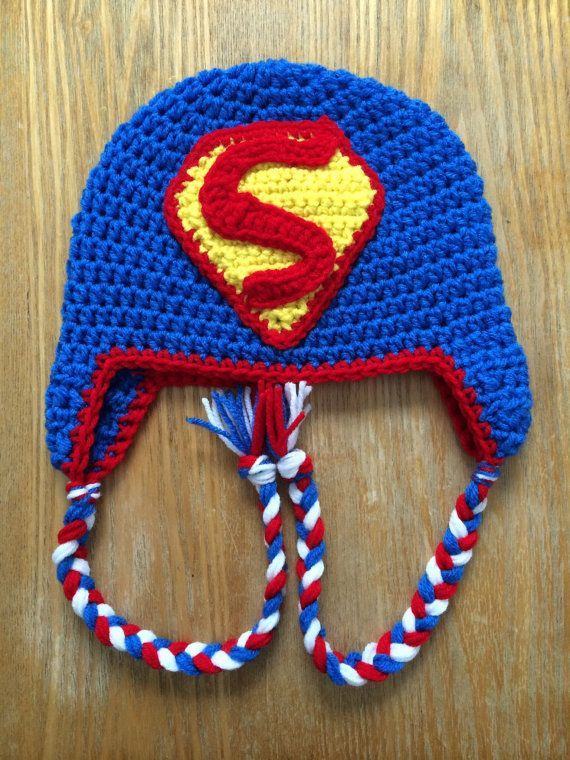 Crochet Superman Hat by QBsquared on Etsy