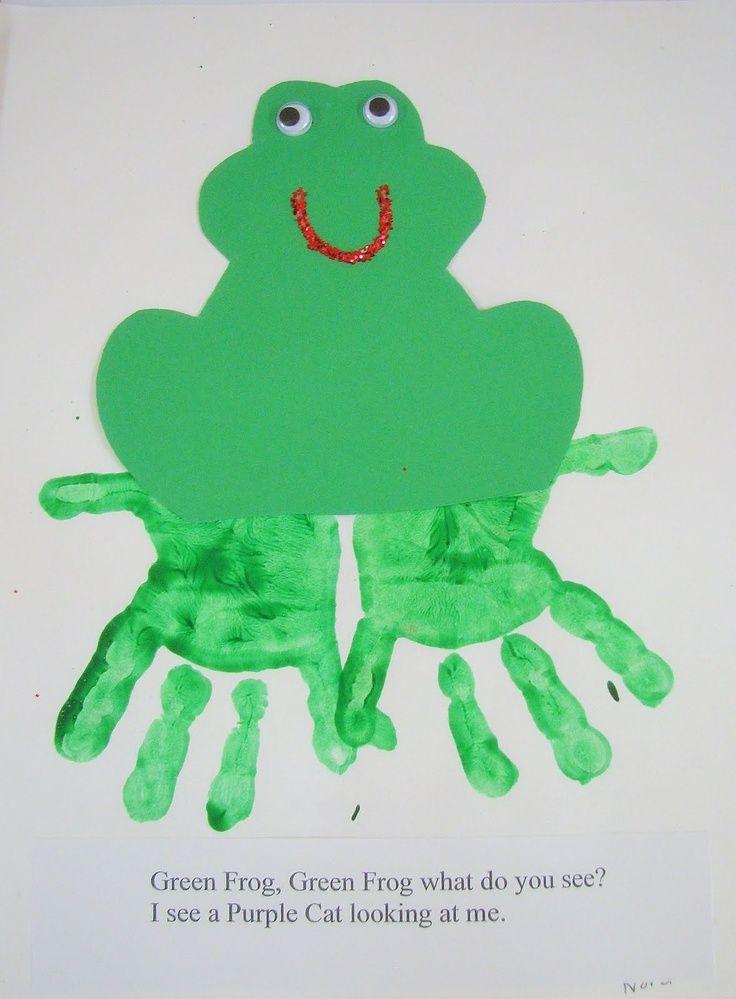 brown bear brown bear crafts preschoolers   Preschool Ideas For 2 Year Olds: Brown Bear Hand ...   fingerprint art