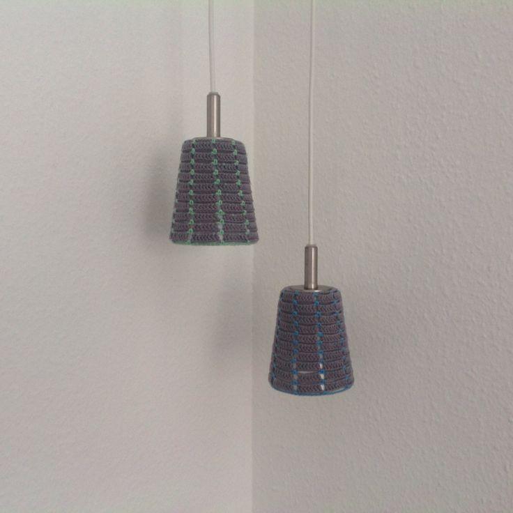 Hæklede lampeskærme
