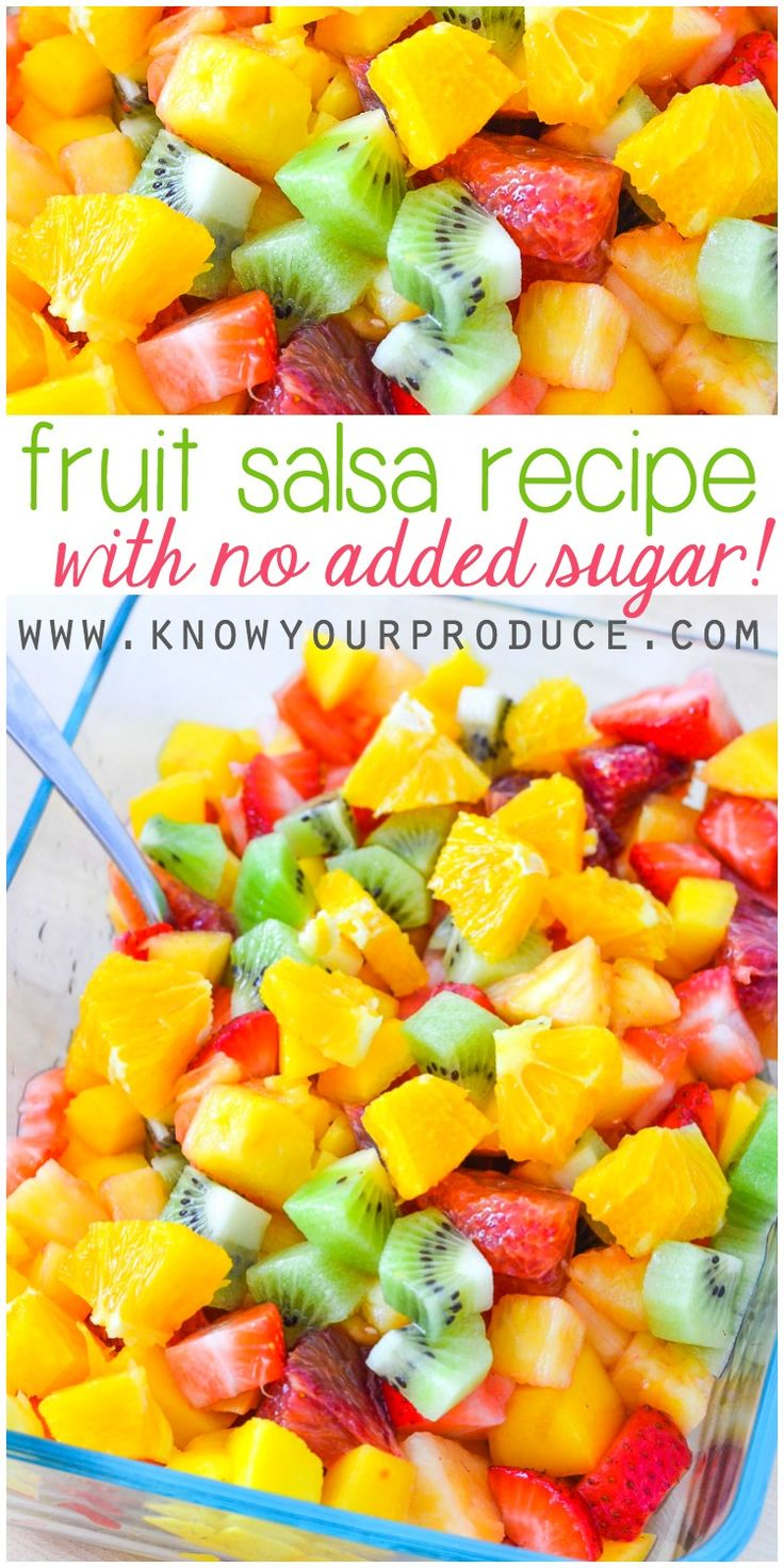 Fruit Salsa Recipe with No Added Sugar - Healthy and quick and easy to make!