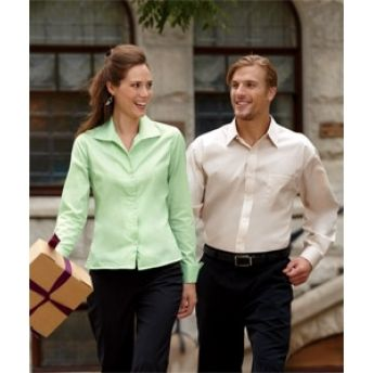 8992 UltraClub Ladies' Whisper Elite Twill Shirt . Buy at wholesale price.
