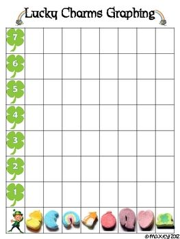 This is a chart to use when graphing the marshmallows from Lucky Charms cereal.