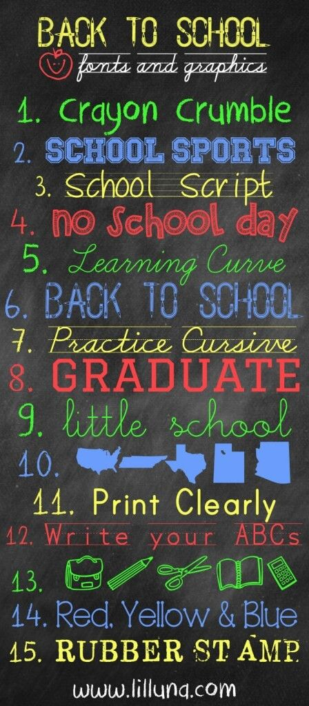 FREE Back to School Fonts and Graphics