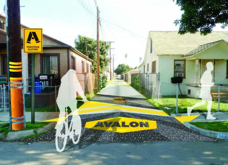 Los Angeles pedestrian alleyway proposal, SALT Landscape Architects