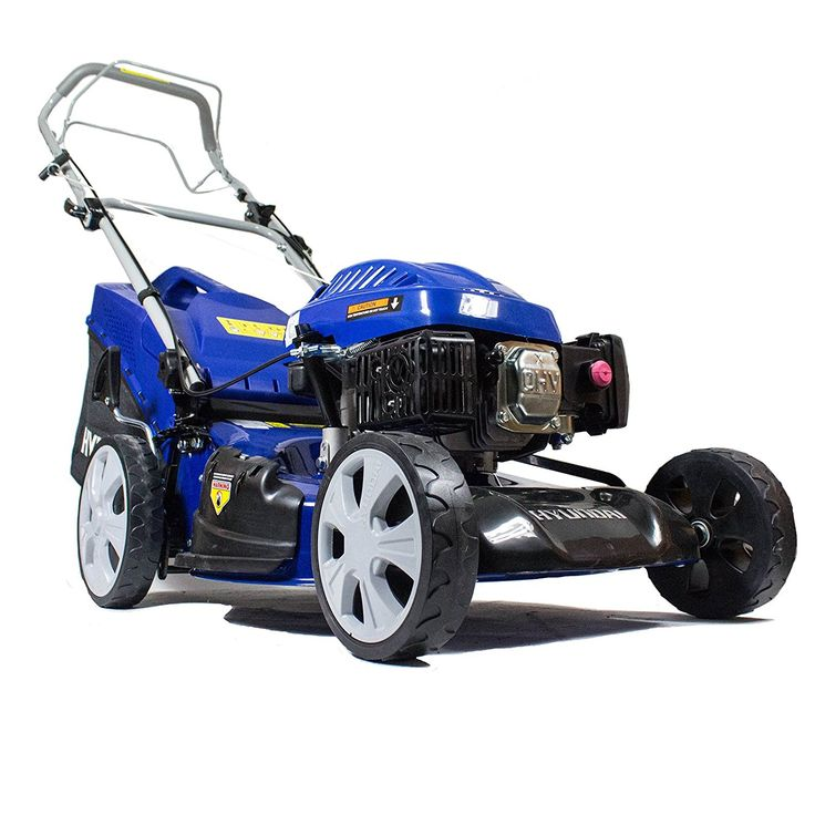 Hyundai 173 cc Petrol Self Propelled 4-in-1 Rotary Lawn Mower with 7 Cutting Heights, Soft Grip Handle HYM51SP * Visit the image link for more details. #MowersandOutdoorPowerTools