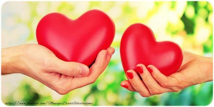 Felicitaciones Personalizadas de San Valentín - Dos corazones con nombres - mensajesdeseosfelicitaciones.com