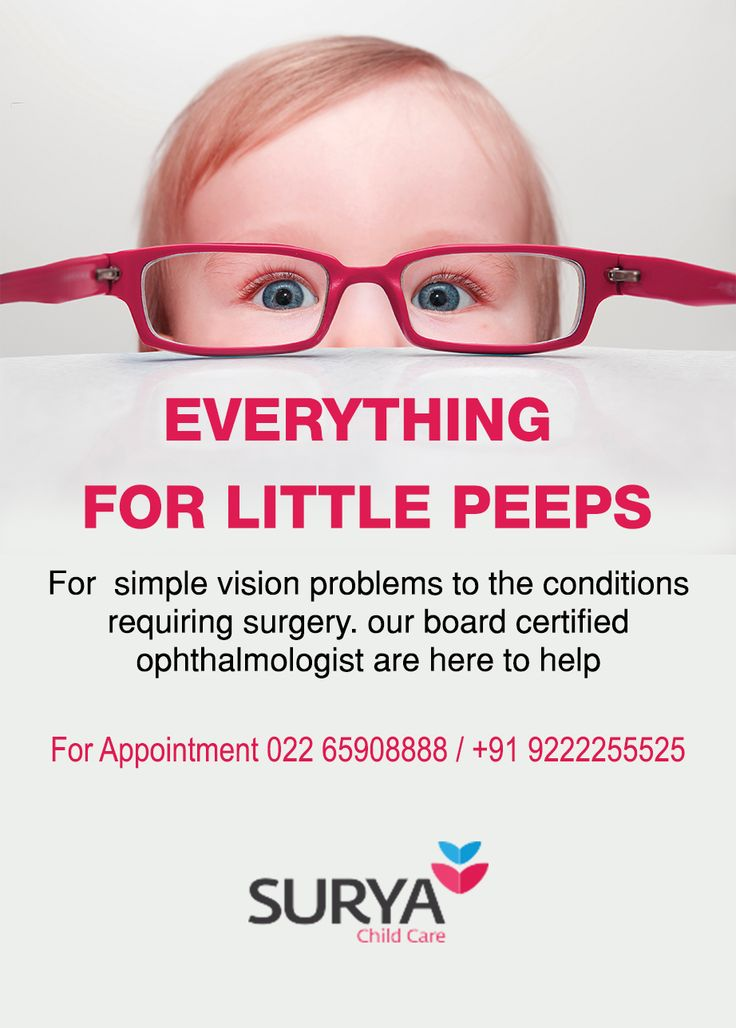 EVERYTHING FOR YOUR LITTLE PEEPS... Our Ophthalmologist Can Serve Them Better !!!