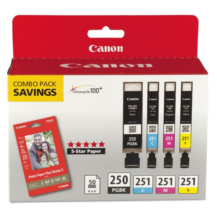 Canon Ink Cartridge - Pigment, Magenta, Yellow, Cyan #6497B004