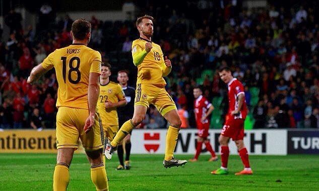 Aaron Ramsey's strike for Wales vs. Moldova last night means he overtakes Ryan Giggs on international goals for his country (13)