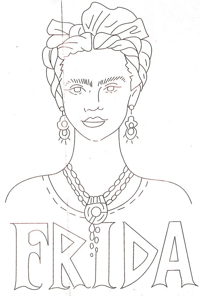 Free Frida Kahlo Embroidery Patterns
