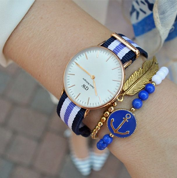 The Classic Trinity by Daniel Wellington, available here: http://www.danielwellington.com/us/classic-trinity. #danielwellington #fblogger #preppy #watch