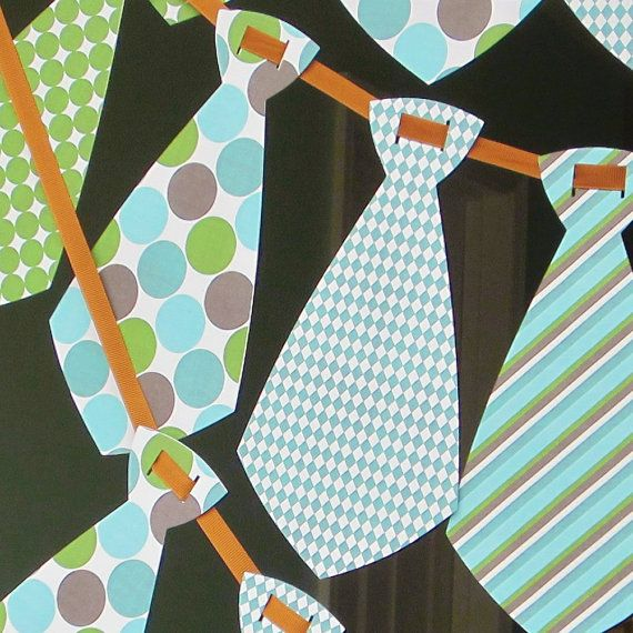 Could use ties for a baby boy banner