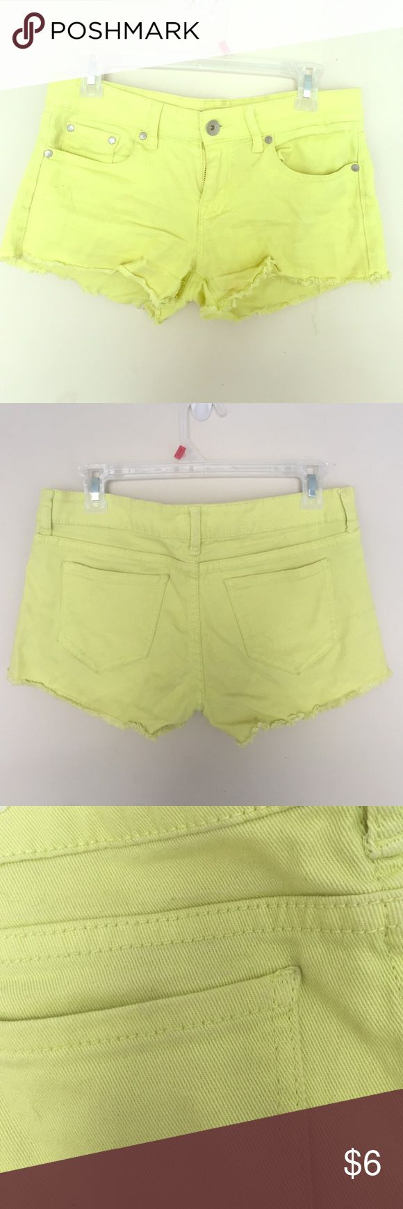 Neon green shorts These shorts are a size 6 and are in excellent condition! No rips or stains. refuge Shorts