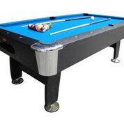 "A really super and stylish 7ft pool table, with a ball return system, independent leg levellers, bolt on legs and full size 2.25"" balls. It also comes complete with cues and a triangle and is very sturdy. A superb table, and the centre piece of any games room!"
