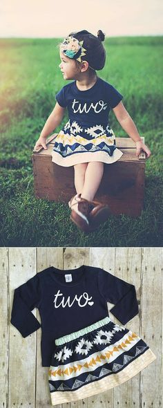 """Cute kids """"two"""" birthday outfit"""