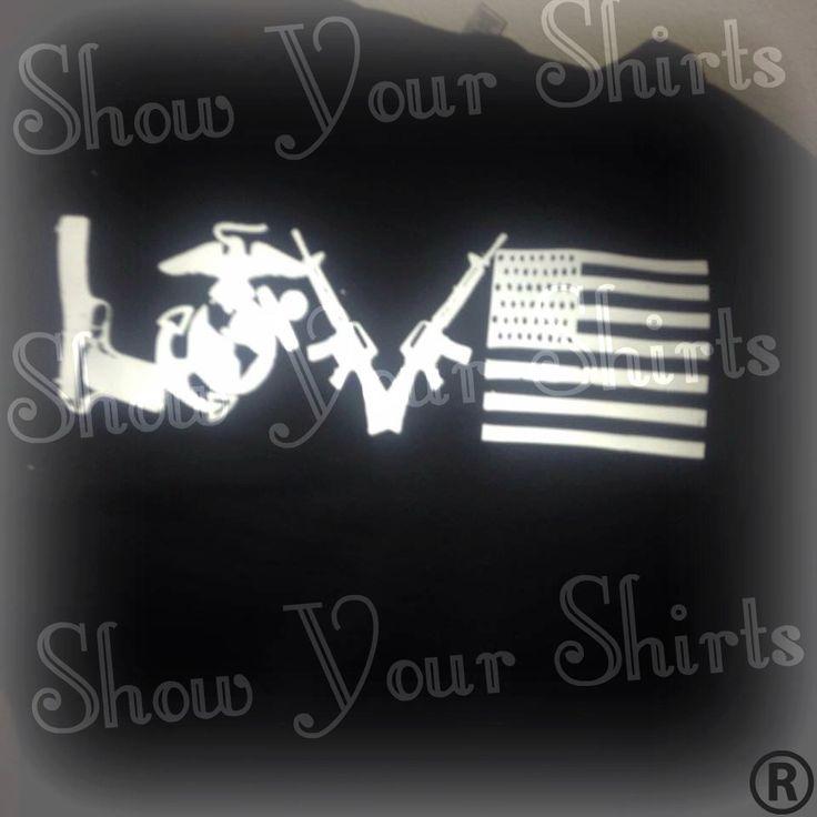 "USMC ""Love Line"" EGA Pride - Marine Love - Second Amendment Pride - American Flag by ShowYourShirts on Etsy"