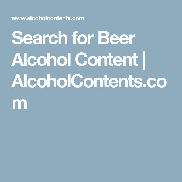 Search for Beer Alcohol Content | AlcoholContents.com